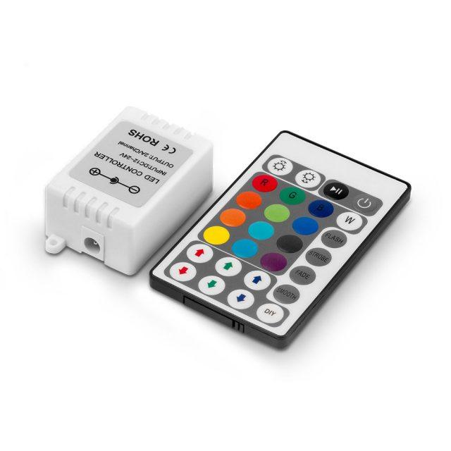 Controladora RGB con control remoto 5 mts